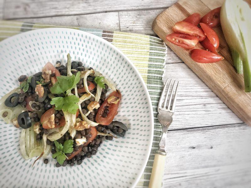 Lentil and Fennel Salad (Vegan)